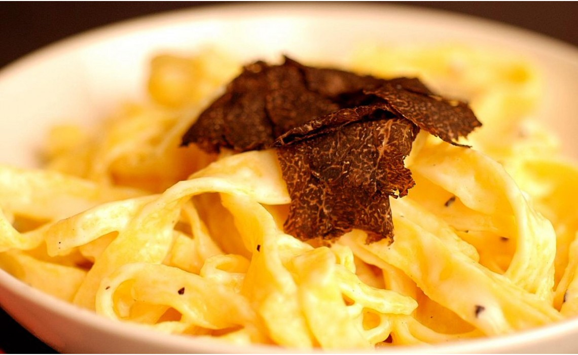 Pasta and fresh truffles