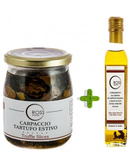 Package Sliced Black Truffles 500g and White Olive 250ml