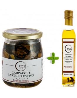 Package Sliced Black Truffles 500g and White Olive 250ml