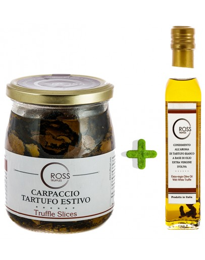Package Sliced Black Truffles 500g and White Olive 250ml Low Price, Products image