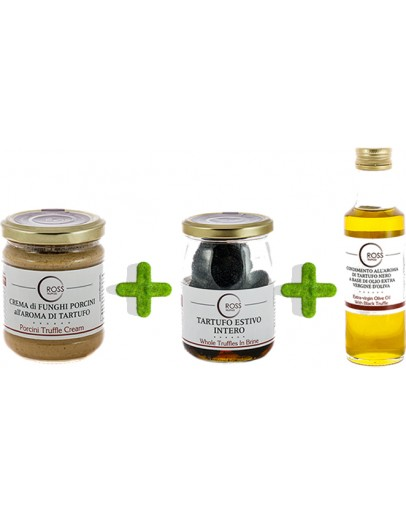 Triple pack truffles olive oil and boletus Low Price, Products image